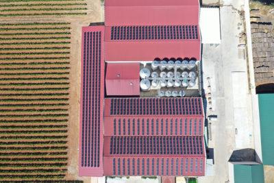 vista aérea placas solares